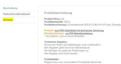 3D-Dateien im Produktfinder zum Download