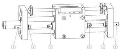 Besonderheiten bei Lineareinheit LE-6 und LE-9, pneumatische, verschleißarme Dämpfung
