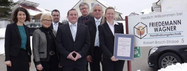 Auszeichnung der Wirtschaftsförderung Schwarzwald-Baar-Heuberg